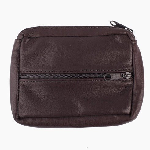 wallet with zipper cherry-brown