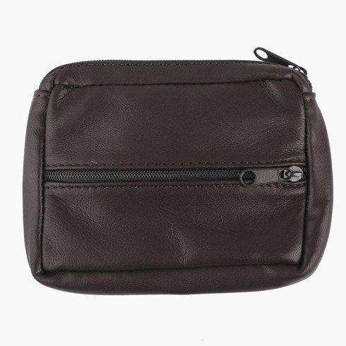 wallet with zipper dark brown