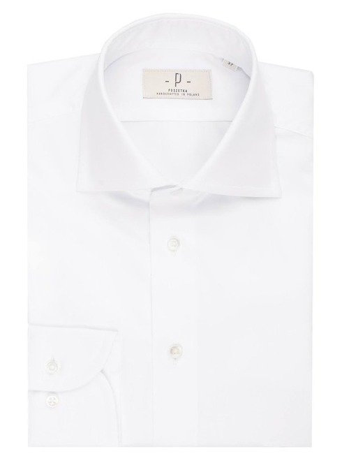 white formal shirt with round cufs 8 cm