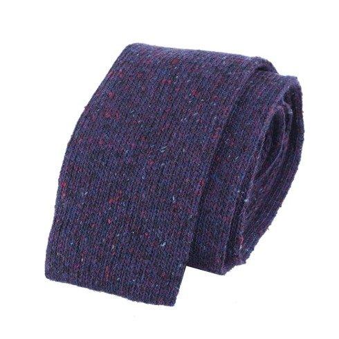 woolen violet knit tie