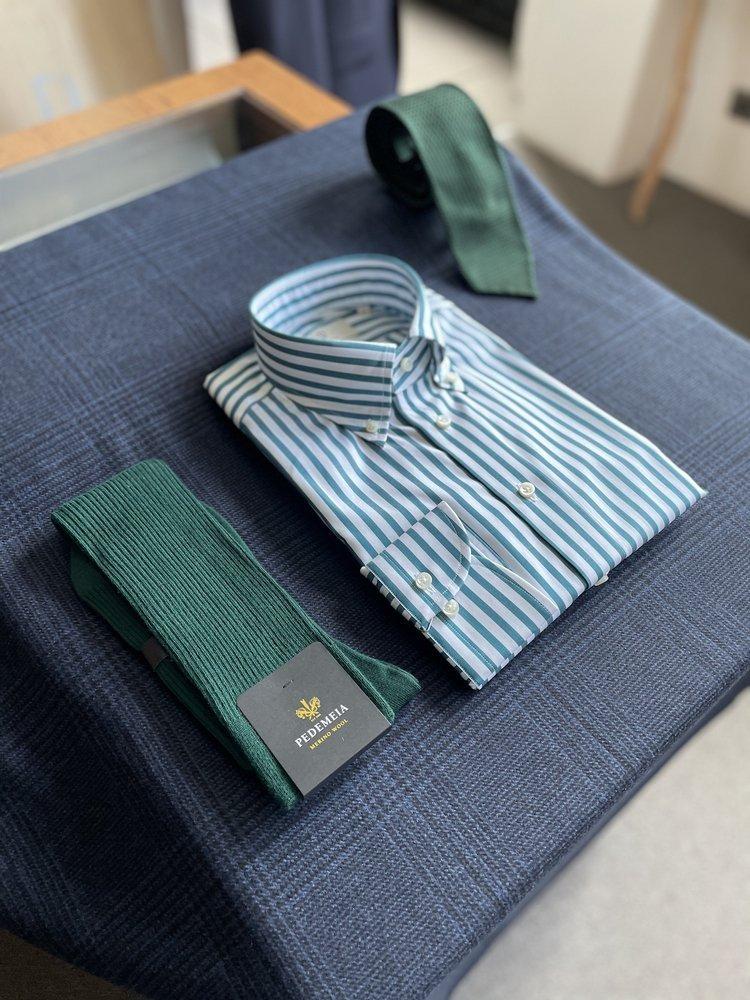 eng_pl_Green-stripped-shirt-Thomas-Mason