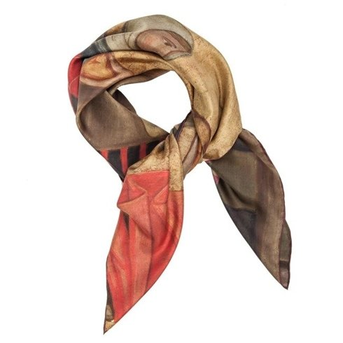 """""""At the market"""" silk scarf 100cm"""