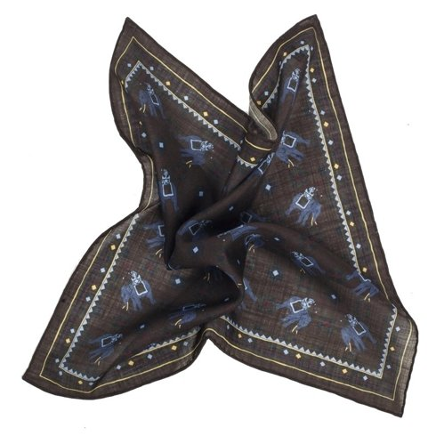 BROWN macclesfield pocket square
