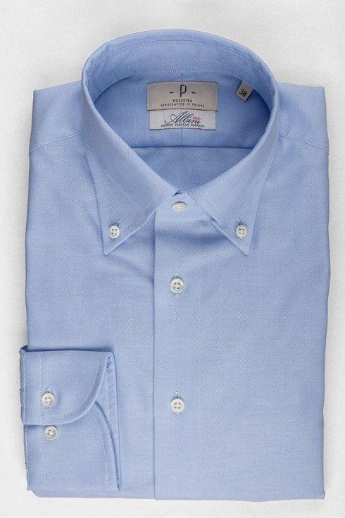 Blue OCBD shirt Albini
