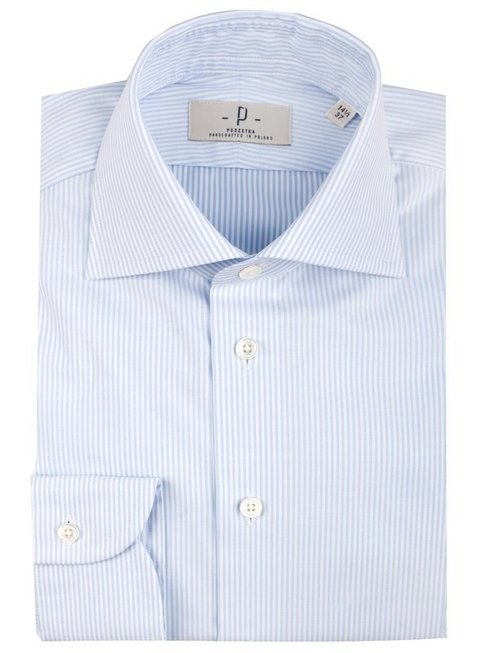 Blue stripes shirt cutaway