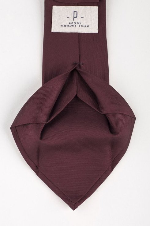 Burgundy six fold Macclesgield silk tie