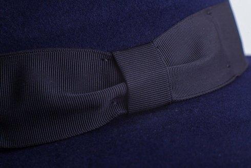 Fedora hat blue navy