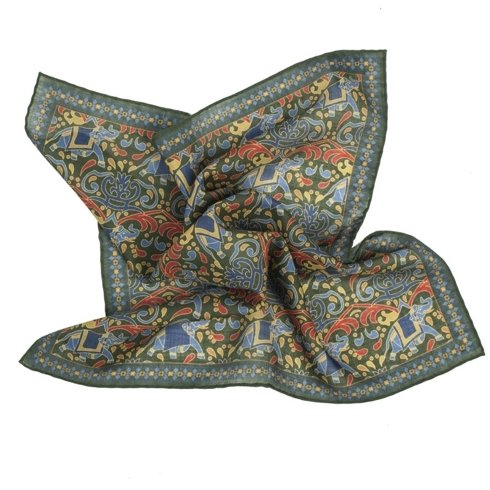 GREEN macclesfield pocket square