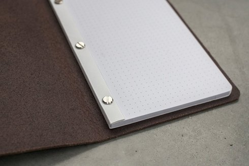 LEATHER chocolate Notebook with refill