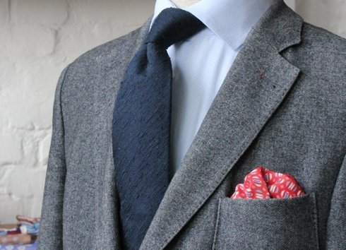 Line&Silk pocket square