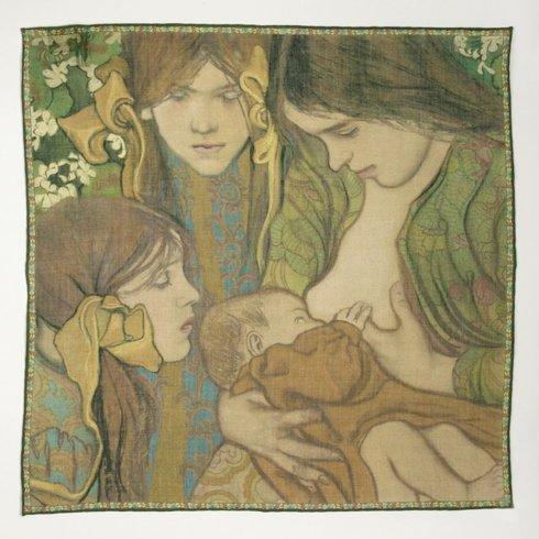 """Pocket square 'Motherhood"""" Stanisław Wyspiański"""