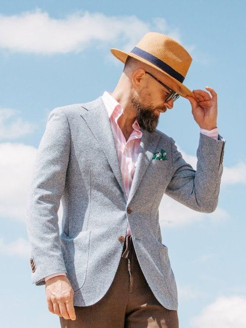 Preoerder: blue jacket 'Marlon'