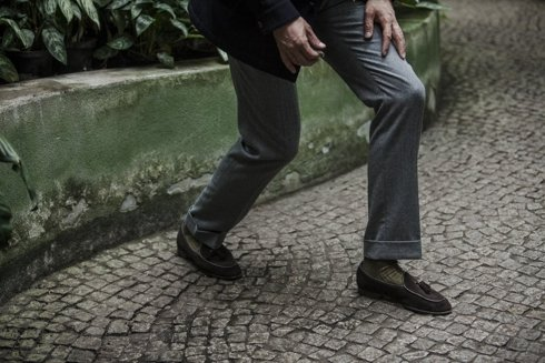 Preorder: grey flannel trousers