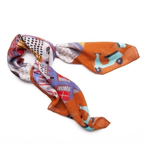 """ROME"" Wool and Silk scarf 100 cm"