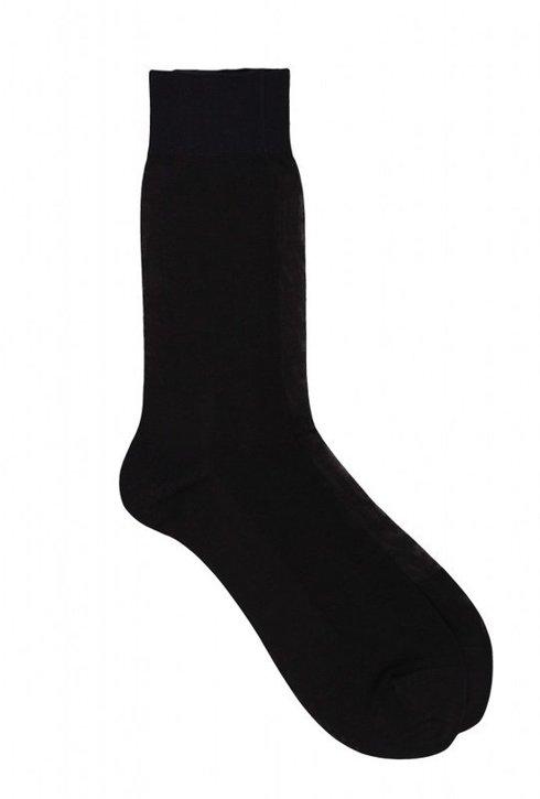 Ribbed 100% Mercerized Cotton Socks - Fil D'écosse