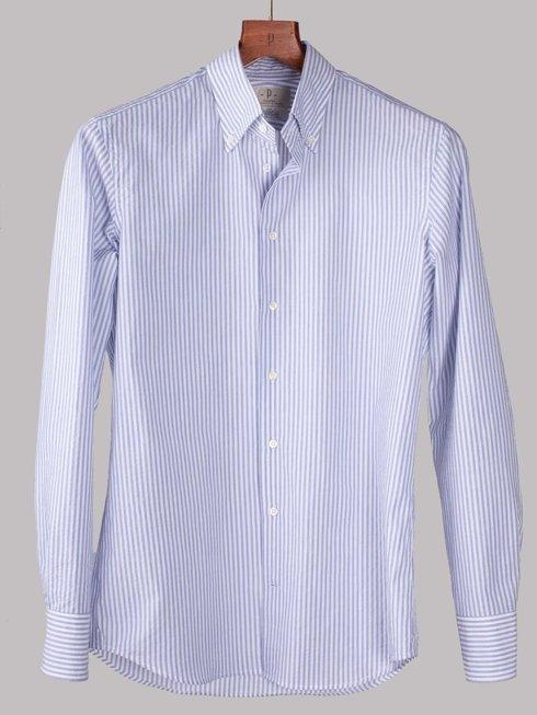 Seersucker button down shirt Albini