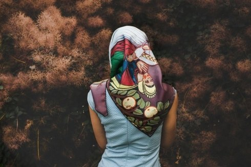 """""""Serenede"""" silk scarf"""