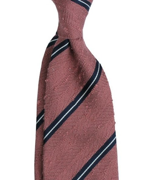 Shantung untipped herringbone tie