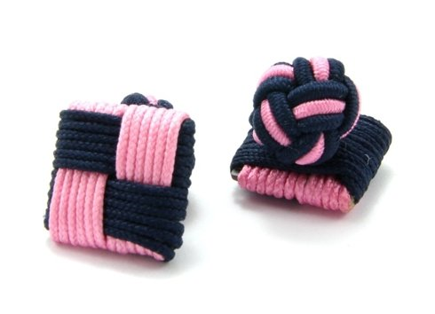 Silk knots pink and navy