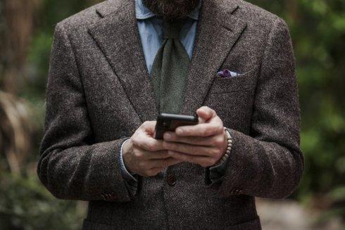 Undyed 100% tweed jacket