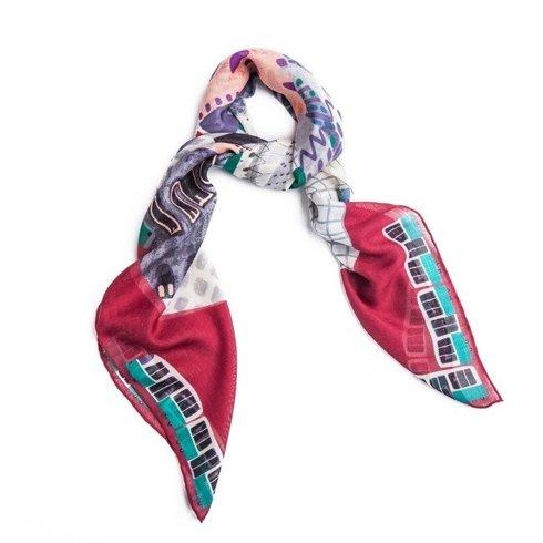 """WIEN"" Wool and Silk scarf 100 cm"