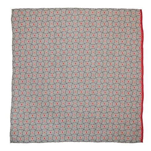 Woolen geometric scarf 110 cm