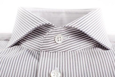 beige&white bengal shirt cutaway