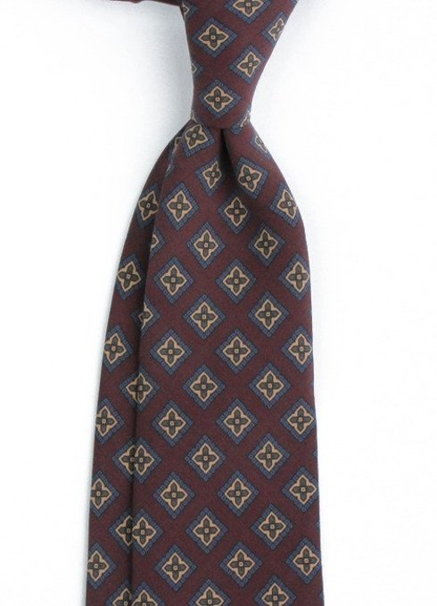 burgundy ANCIENT MADDER SILK tie