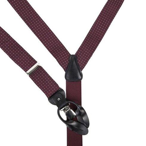 burgundy printed silk BRACES