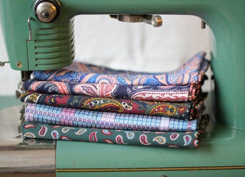 cotton paisley pocket square
