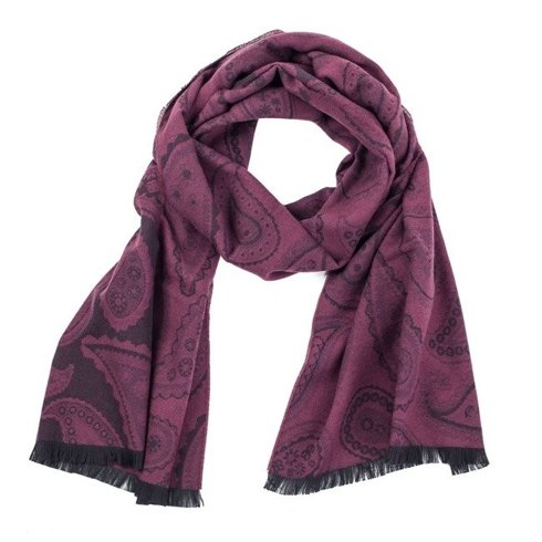 double- faced cotton scarf shades of burgundy