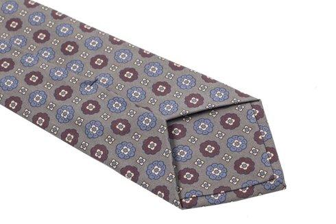 grey ANCIENT MADDER SILK tie