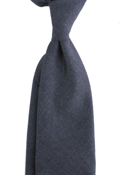 grey UNTIPPED WOOLEN  TIE