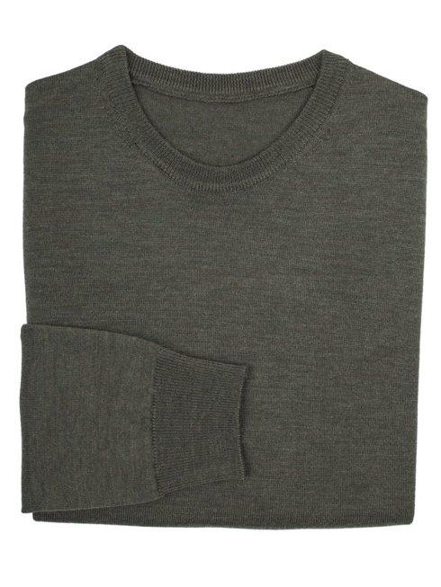 light merino wool sweater khaki