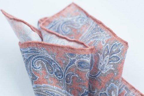 linen pocket square flowers