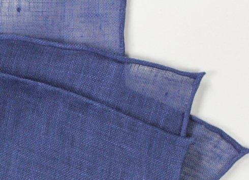 linen pocket square light navy