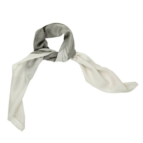 muslin wool and Silk scarf 100 cm