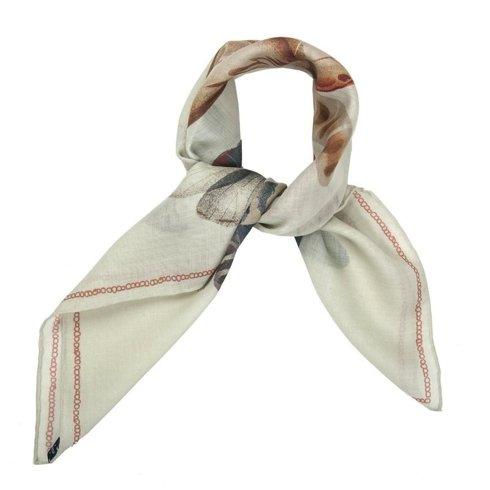 muslin wool and Silk scarf 65 cm