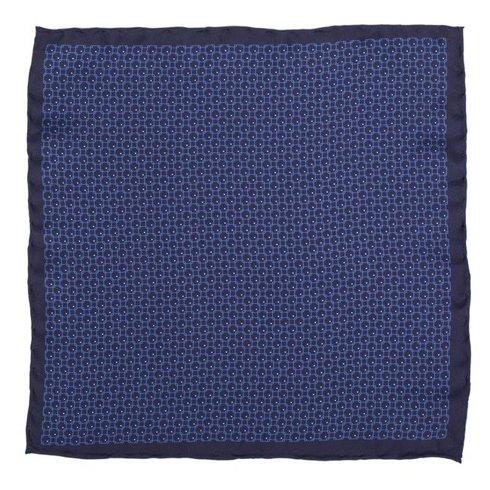 navy geometric pocket square