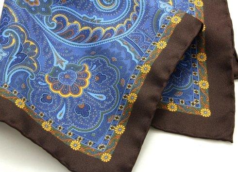 paisley niebieski z brązem