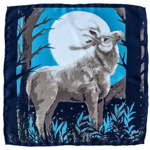 pocket square 'reindeer'