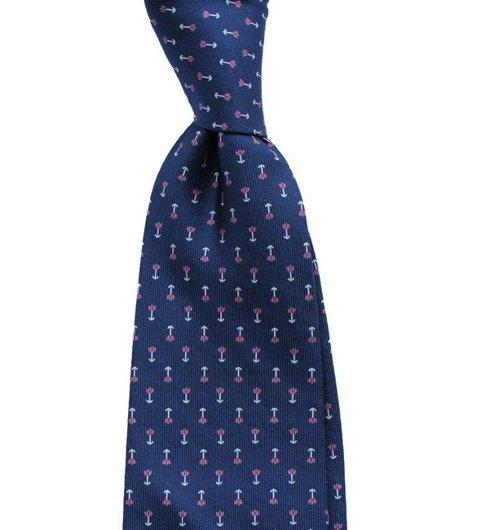 printed silk macclesfield tie