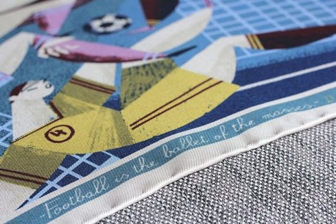 silk pocket square 'Football is the ballet for the masses'