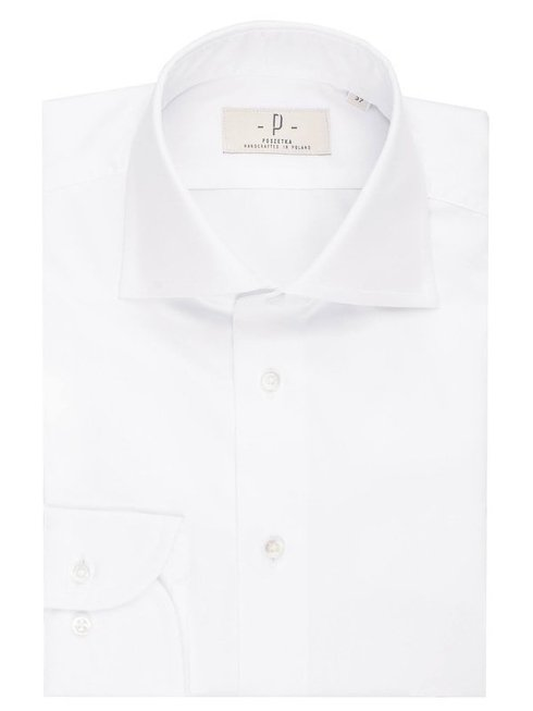 white formal shirt with round cufs 8 cm