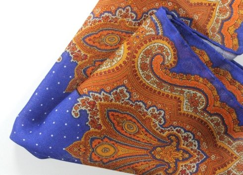 wool & silk pocket square