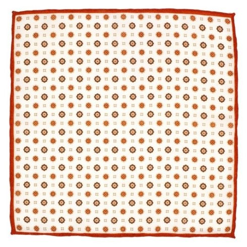 woolen orange flowers pocket square