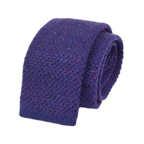 woolen violet donegal knit tie