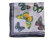 butterfly silk pocket square