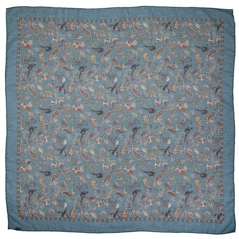 Morska apaszka bawełniano- kaszmirowa 100 cm