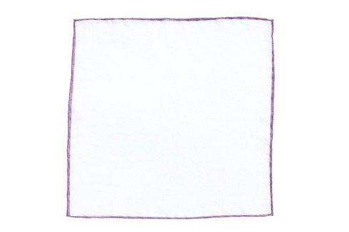 Poszetka z liliowym brzegiem